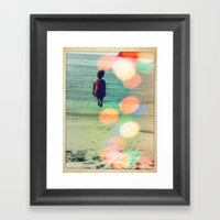 Cannonball Into Life. Framed Art Print