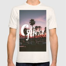 Balboa Pier, California Mens Fitted Tee Natural SMALL