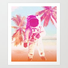 Beach Astronaut Art Print