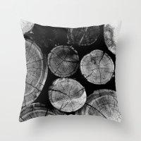 Wood Love Throw Pillow