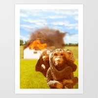 Monkeys Make Bad Pets. Art Print