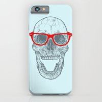 iPhone Cases featuring Smart-Happy Skully by Rachel Caldwell