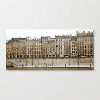 Snowy Apartments Paris Canvas Print