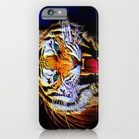 iPhone & iPod Case featuring Fearless Tiger 2 by JT Digital Art