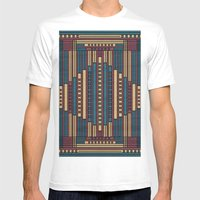 GeoAbstract Mens Fitted Tee White SMALL