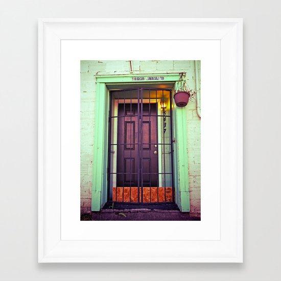 The back door Framed Art Print