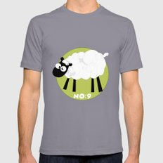 Sheep Number 9.... Mens Fitted Tee Slate SMALL