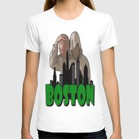 boston T-shirts featuring BOSTON  by Robleedesigns