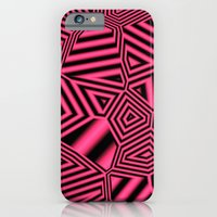 Black And Pink Abstract iPhone 6 Slim Case