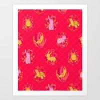 Picnic Pals Animals In S… Art Print