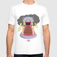 The Hippo's Not So Tempt… Mens Fitted Tee White SMALL