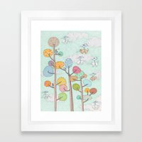 Flying Cats And Dogs Framed Art Print