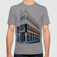 Big Whiskey Saloon Mens Fitted Tee Athletic Grey SMALL