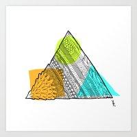 Triangle Doodle Art Print