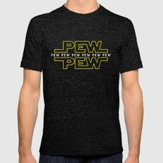 Pew Pew V2 Mens Fitted Tee Tri-Black MEDIUM