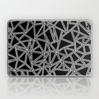 Abstract New White on Black Laptop & iPad Skin