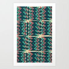 Zig Zags Pattern Press Print Art Print