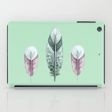 Pastel watercolor feathers iPad Case