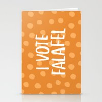 I Vote Falafel Stationery Cards