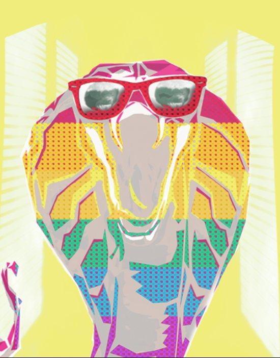 Cobra don't care Canvas Print
