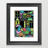The street Framed Art Print