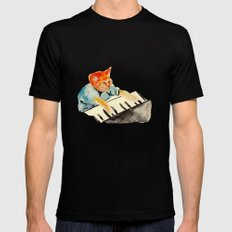 watercolour keyboard SMALL Mens Fitted Tee Black