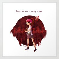Land of the Rising Dead Art Print