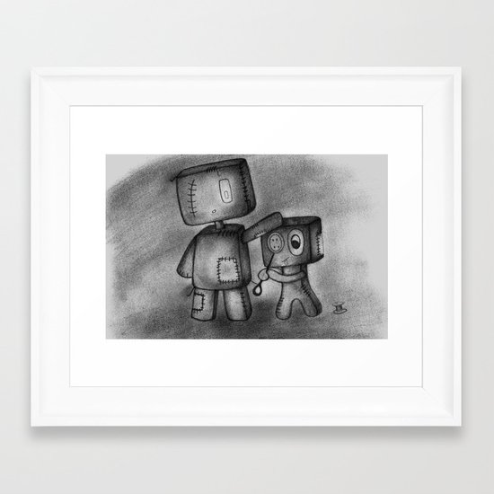 team work Framed Art Print