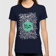 Help Me, I'm Poor. Womens Fitted Tee Navy SMALL