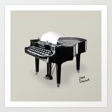 Piano/Typewriter Art Print