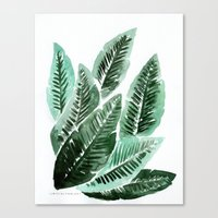 Paradise Leaves Canvas Print