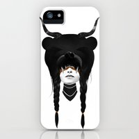 iPhone Cases featuring Bear Warrior by Ruben Ireland