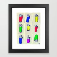 Nine Crap clippers. Framed Art Print