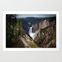 Lower Falls on the Yellowstone Art Print