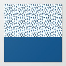 Triangles Blue Canvas Print