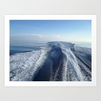Boat Wake View, Florida Keys Art Print
