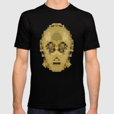 Star Wars - C-3PO Mens Fitted Tee Black SMALL