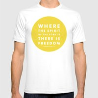 There Is Freedom Mens Fitted Tee White SMALL