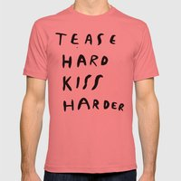 WORK HARD, PLAY HARDER Mens Fitted Tee Pomegranate SMALL