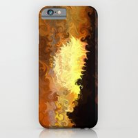 iPhone Cases featuring Sunset, Waves Crashing by Paul Kimble