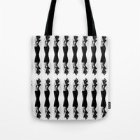 Nude Dancer Black And Wh… Tote Bag
