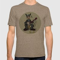 Wise Dog And His Banjo Mens Fitted Tee Tri-Coffee SMALL