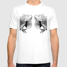Iguana Mens Fitted Tee SMALL White