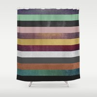 Stripe Combination Shower Curtain