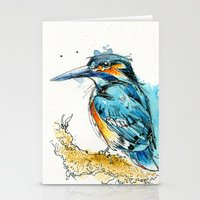 Regal Kingfisher Stationery Cards
