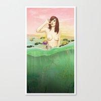 Lily du Lac Canvas Print