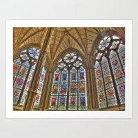 Windows Of Westminster A… Art Print