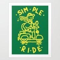 Simple Ride Art Print
