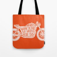 Four wheels transport the body, two wheels move the soul Tote Bag