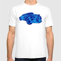 Retro Car - Digital Work Mens Fitted Tee White SMALL